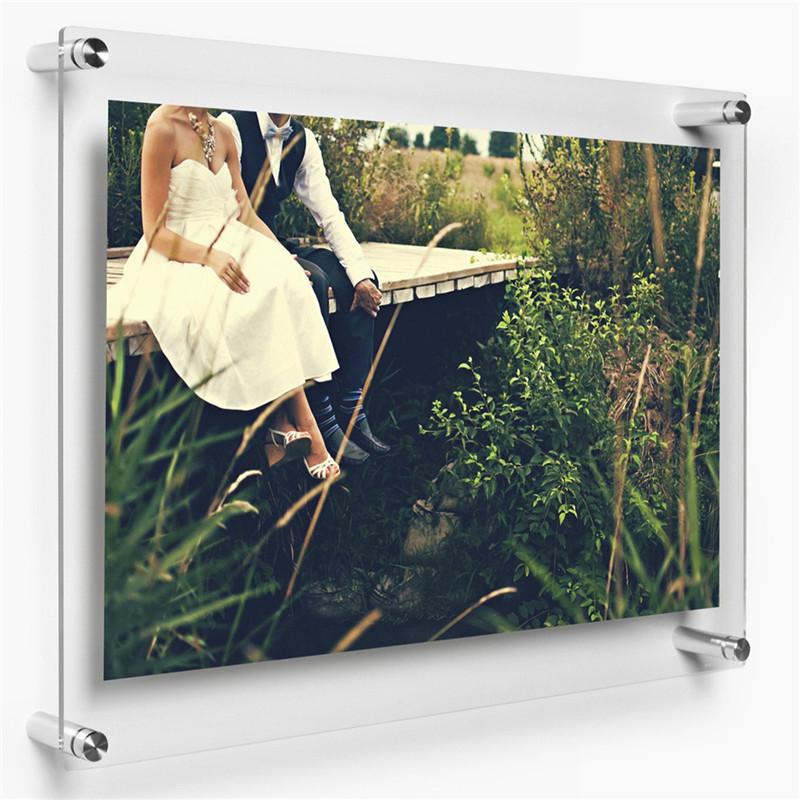 Yageli Unique Design Large Acrylic Cube Photo Frame