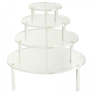 Round Acrylic Table Risers Set of 4