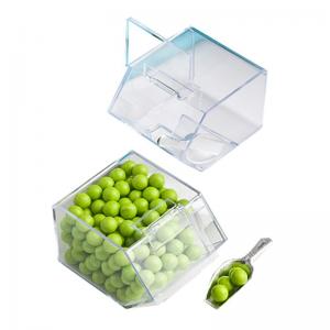 Perfect Mini Acrylic Wedding Candy Box With Hinged Lid