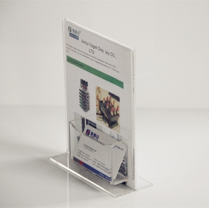 Plexiglass Stand Up Sign Holder