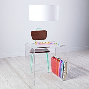 Clear Acrylic Stackable Nesting End Side Tables