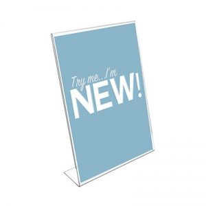 Modern Plexiglass Sign Holders For Display