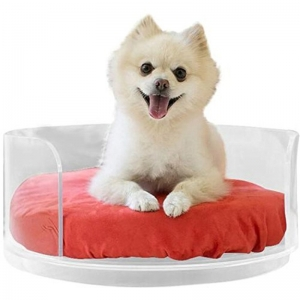 Large Clear Acrylic Dog Bed