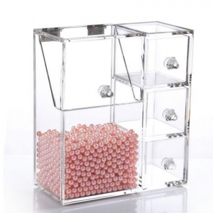 New Arrival Acrylic Makeup Brush Holder With Flip Lid  sc 1 st  Anhui Yageli Display Co.Ltd. & Wholesale Acrylic Makeup OrganizerAcrylic Makeup Organizer ...