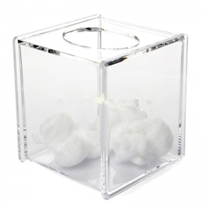 clear acrylic tissue box holder