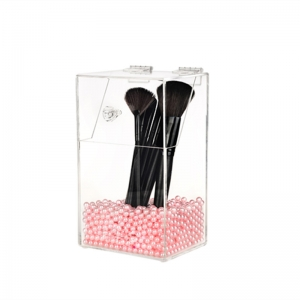 Plexiglass Brush Holder With Lid
