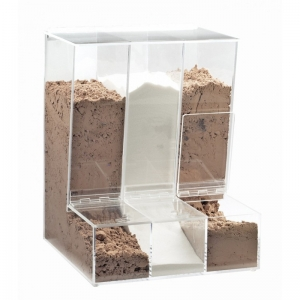 Rectangular acrylic candy container