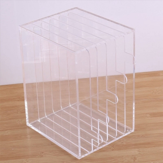 Custom Clear Acrylic Bookcase Office Holder