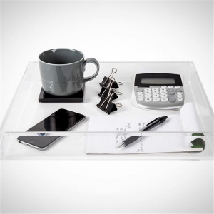 Acrylic condiment tray serving tray