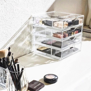 YageliAcrylic Makeup DrawerAcrylic Storage DrawersClear Acrylic - Clear acrylic makeup organizer