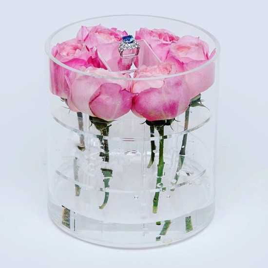 Acrylic Flower Box Acrylic Roses Boxes For Flower Home Display