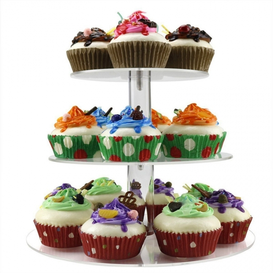 Square Acrylic Cupcake Stand Tower Wedding Cake Stand