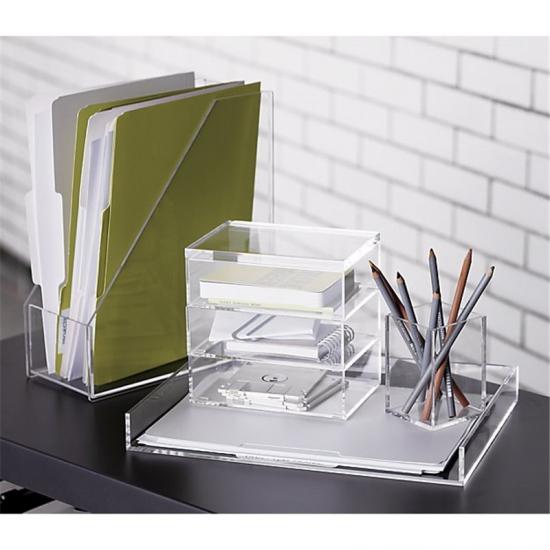 Acrylic Pen Box Acrylic Pencil Holder Organizers For