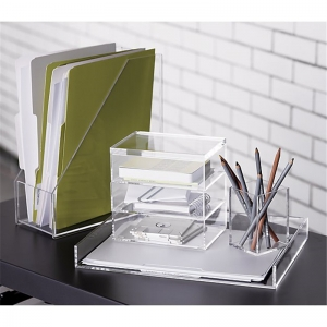 acrylic office accessories organizers