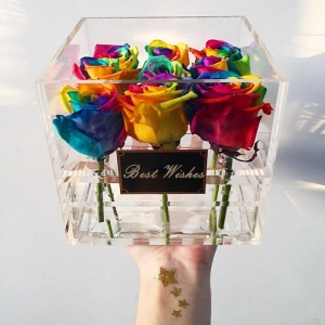 acrylic gift box for rose