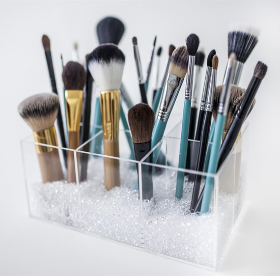 clear acrylic makeup brush holder. Black Bedroom Furniture Sets. Home Design Ideas