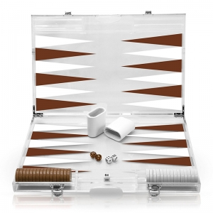 acrylic Deluxe Backgammon Set