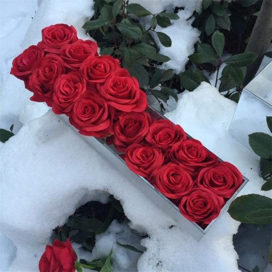 Factory Price Waterproof Eternal Roses Mirrored Box For 18