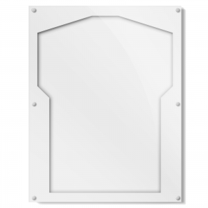 White and Clear Color Acrylic Jersey Frame