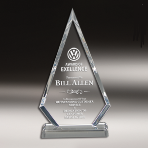 Custom clear acrylic award