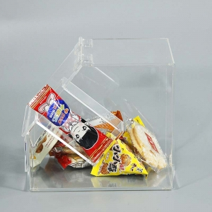 clear color square shape acrylic candy box