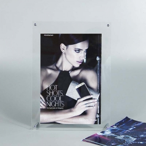 Customized size acrylic frame display stand with magnet