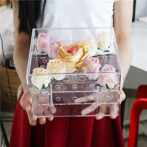 Acrylic flower roses box