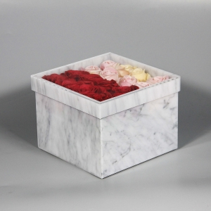 Yageli Factory supplier customized marble Acrylic rose box