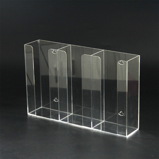Factory Price Clear 3 Side Acrylic Glove Box Holder