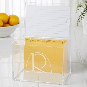 Transparent Personalized 4x6 Acrylic Creative Recipe Gift Box