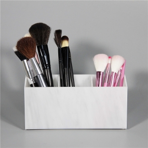 marble acrylic brush holder