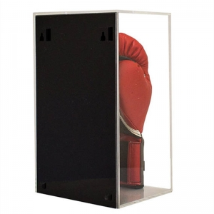 Black base acrylic boxing gloves display case