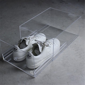 Luxury acrylic sneaker display box shoe storage