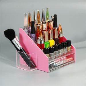 Clear acrylic nail polish display rack