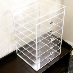 acrylic 7 drawer & clear makeup organizer