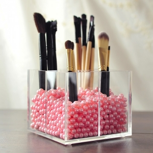 Luxury Brush Stand Clear Acrylic Makeup Brush Holder