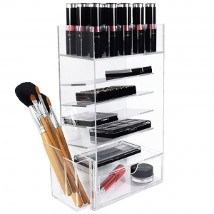 Acrylic clear custom lipstick organizer 10 spaces