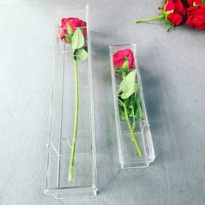 acrylic clear flower box