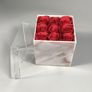 acrylic flower display box
