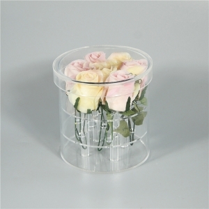 round acrylic flower box