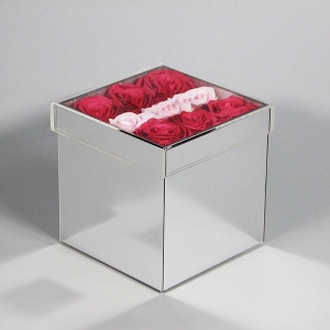 acrylic flower packing box