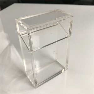 clear acrylic cigar box
