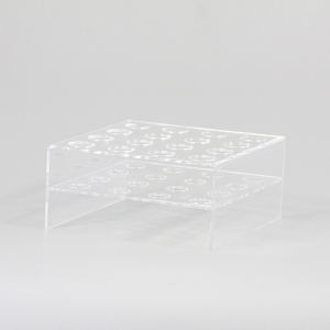 Clear acrylic ice cream display rack