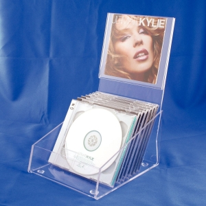 Clear acrylic CD display holder