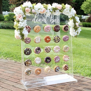 Custom Acrylic Donut Wall Wedding Donut Wall