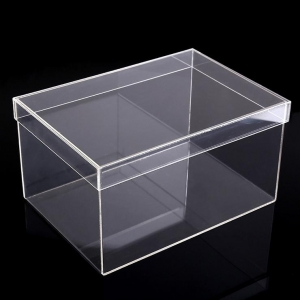 High quality Clear acrylic box with lid, Clear acrylic shoe box wholesale