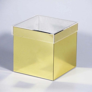 golden acrylic rose box