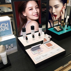 Custom Cosmetic Makeup Lipstick Metal Acrylic Cardboard Display Stand