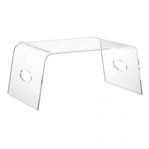 perspex lucite food table with handles