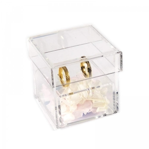 wedding ring bearer alternative acrylic box